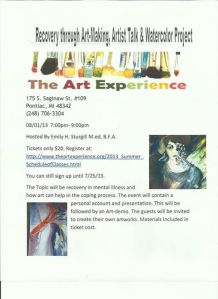 Art Therapy Flyer August 1 2013